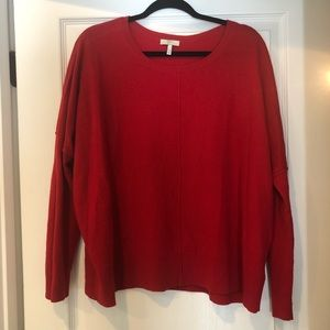 GUC JOIE BRIGHT RED SWEATER. Size large